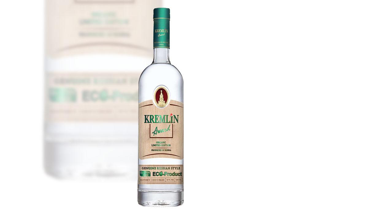 Kremlin Award Organic Vodka.